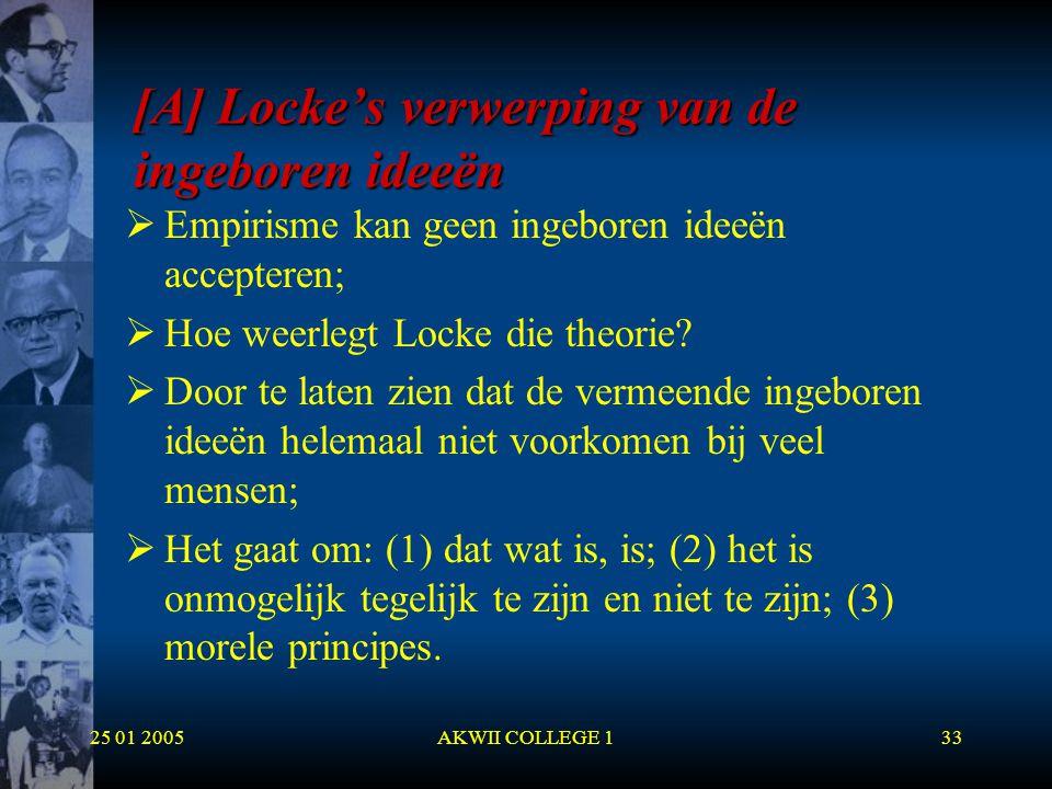 [A] Locke's verwerping van de ingeboren ideeën